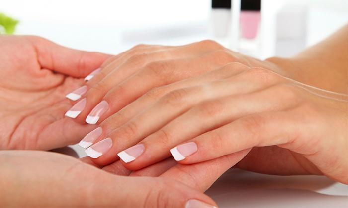 Pink White Acrylic Nail